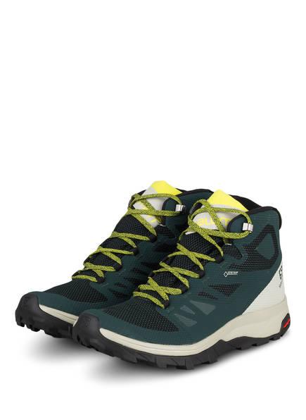 SALOMON Outdoor-Schuhe OUTLINE MID GTX, Farbe: DUNKELGRÜN/ SCHWARZ (Bild 1)
