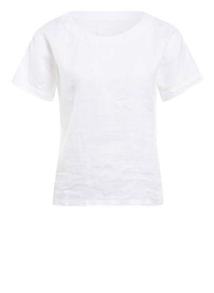 120%lino Blusenshirt aus Leinen, Farbe: WEISS (Bild 1)