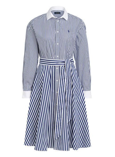 POLO RALPH LAUREN Hemdblusenkleid ELA, Farbe: WEISS/ DUNKELBLAU (Bild 1)