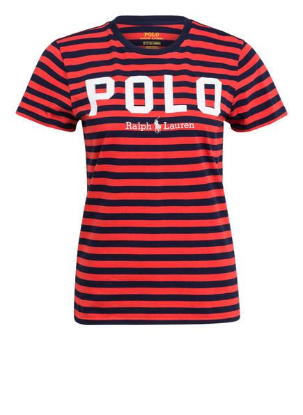 POLO RALPH LAUREN T-Shirt, Farbe: ROT/ DUNKELBLAU GESTREIFT (Bild 1)