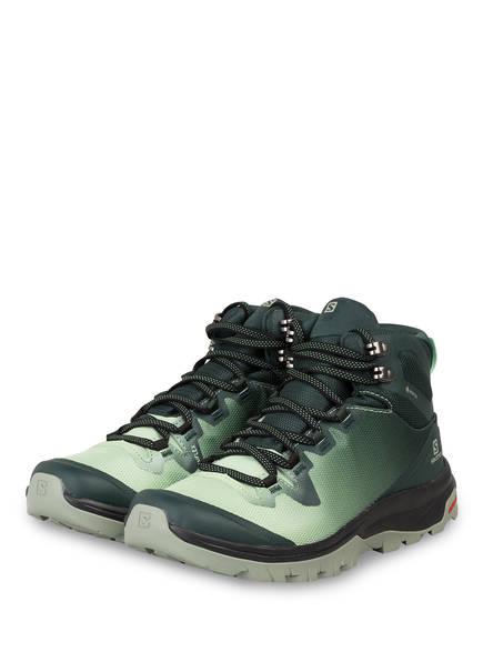 SALOMON Outdoor-Schuhe VAYA MID GTX, Farbe: DUNKELGRÜN/ HELLGRÜN (Bild 1)