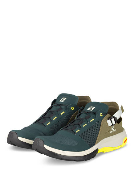 SALOMON Outdoor-Schuhe TECHAMPHIBIAN 4, Farbe: DUNKELGRÜN/ OLIV/ NEONGELB (Bild 1)