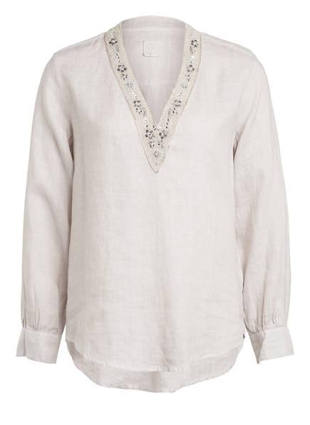 120%lino Blusenshirt aus Leinen , Farbe: BEIGE (Bild 1)