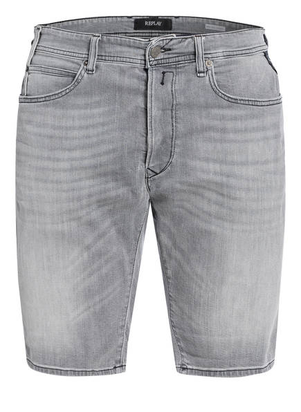 REPLAY Jeans-Shorts WAITOM Tapered Fit, Farbe: 010 GREY (Bild 1)