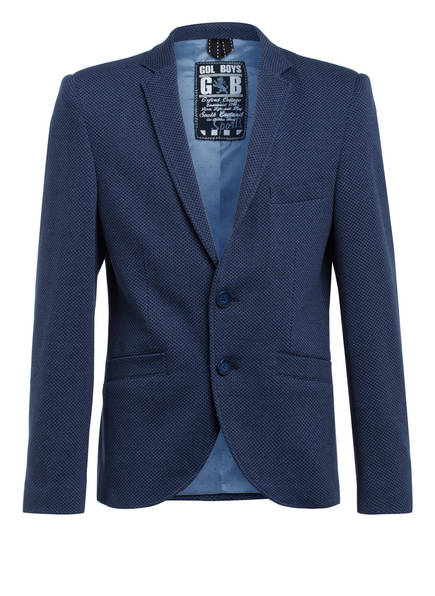 G.O.L. FINEST COLLECTION Jerseysakko Slim Fit, Farbe: DUNKELBLAU (Bild 1)