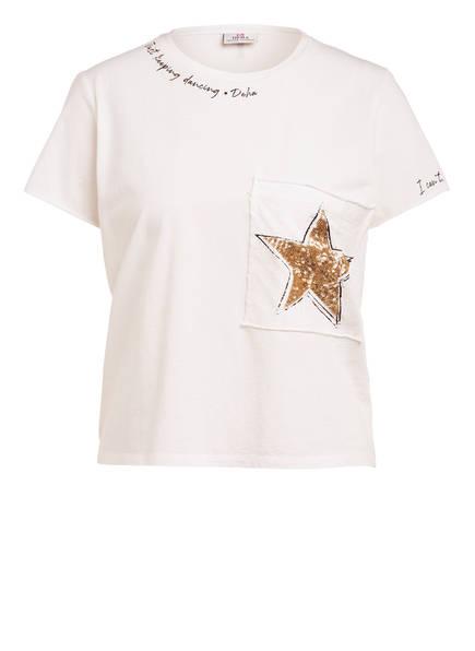 DEHA T-Shirt mit Paillettenbesatz, Farbe: WEISS (Bild 1)