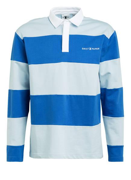 DAILY PAPER Jersey-Poloshirt APOLO, Farbe: BLAU/ HELLBLAU GESTREIFT (Bild 1)