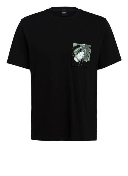 BOSS T-Shirt TEXRAY, Farbe: SCHWARZ/ HELLGRÜN (Bild 1)