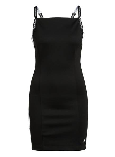 Calvin Klein Jeans Kleid mit Galonstreifen, Farbe: SCHWARZ/ WEISS (Bild 1)