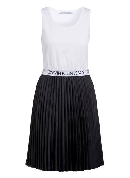 Calvin Klein Jeans Plisseekleid, Farbe: WEISS/ SCHWARZ (Bild 1)