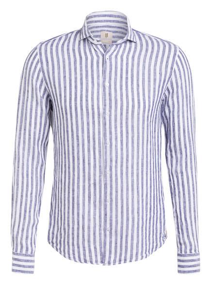 Q1 Manufaktur Leinenhemd HAIKO Extra Slim Fit, Farbe: WEISS/ BLAU (Bild 1)