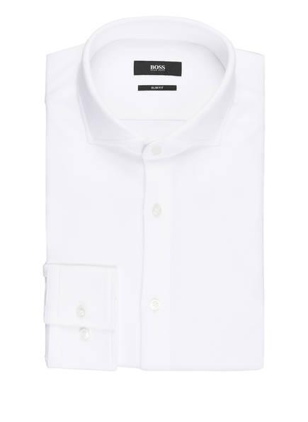 BOSS Piqué-Hemd JASON Slim Fit, Farbe: WEISS (Bild 1)