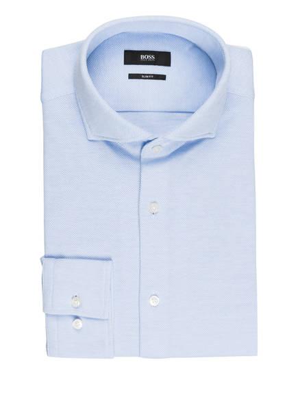BOSS Piqué-Hemd JASON Slim Fit, Farbe: HELLBLAU (Bild 1)