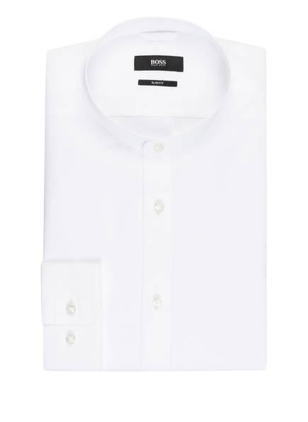 BOSS Hemd JORDI Slim Fit mit Stehkragen, Farbe: WEISS (Bild 1)