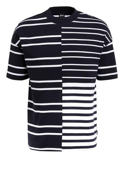 BOSS T-Shirt TAMES, Farbe: DUNKELBLAU/ WEISS GESTREIFT (Bild 1)