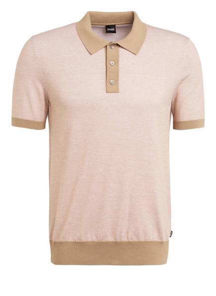 BOSS Strick-Poloshirt OBERTI, Farbe: BEIGE (Bild 1)