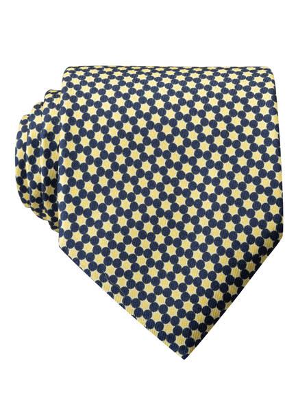BOSS Krawatte, Farbe: HELLGELB/ DUNKELBLAU (Bild 1)