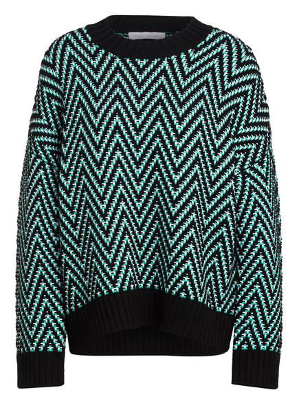 NINETY PERCENT Oversized-Pullover, Farbe: SCHWARZ/ MINT/ WEISS (Bild 1)