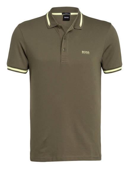 BOSS Piqué-Poloshirt PAULE Slim Fit, Farbe: KHAKI/ GELB (Bild 1)