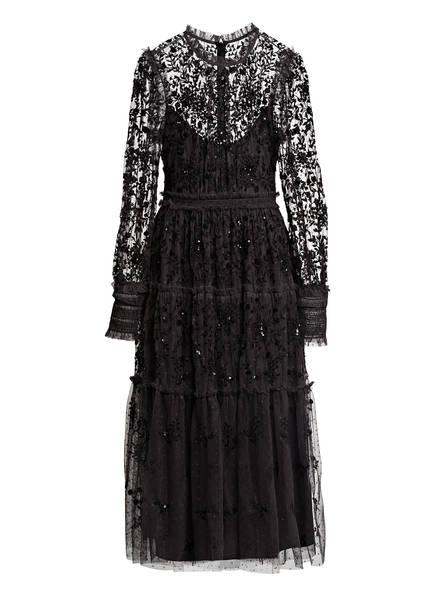 needle & thread Kleid mit Stickereien, Farbe: SCHWARZ (Bild 1)