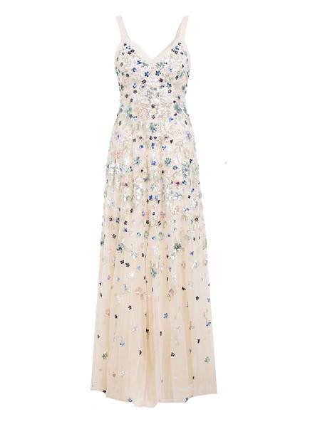 needle & thread Kleid mit Paillettenbesatz, Farbe: ECRU/ TÜRKIS/ ROSÈ (Bild 1)