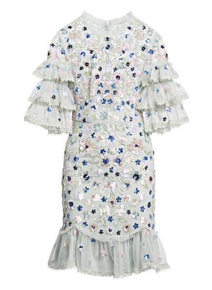 needle & thread Kleid mit Paillettenbesatz, Farbe: MINT/ HELLLILA/ ROSA (Bild 1)