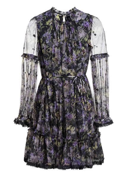 needle & thread Kleid LILACS DITSY, Farbe: SCHWARZ/ LILA/ HELLGRÜN (Bild 1)