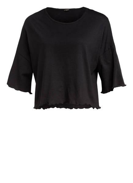 MANDALA Cropped-Shirt , Farbe: SCHWARZ (Bild 1)