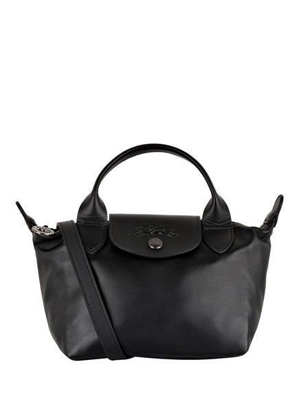 LONGCHAMP Handtasche LE PLIAGE CUIR MINI, Farbe: SCHWARZ (Bild 1)