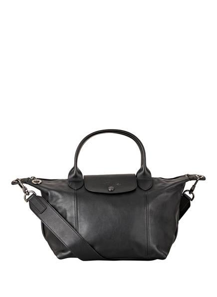 LONGCHAMP Handtasche LE PLIAGE CUIR, Farbe: SCHWARZ (Bild 1)
