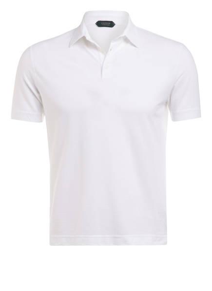 ZANONE Jersey-Poloshirt Extra Slim Fit, Farbe: WEISS (Bild 1)