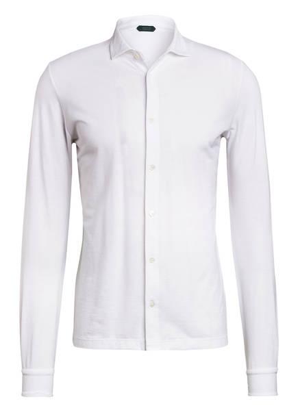 ZANONE Jerseyhemd Extra Slim Fit, Farbe: WEISS (Bild 1)