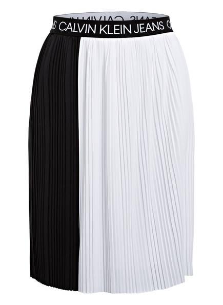 Calvin Klein Plisseerock, Farbe: WEISS/ SCHWARZ (Bild 1)