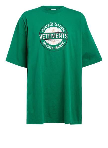 VETEMENTS Oversized-Shirt, Farbe: GRÜN (Bild 1)