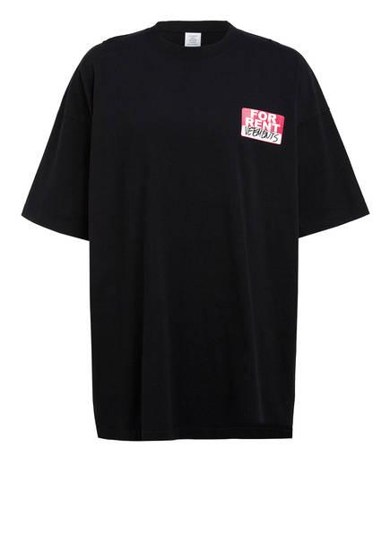 VETEMENTS Oversized-Shirt , Farbe: SCHWARZ (Bild 1)