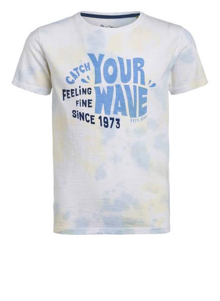 Pepe Jeans T-Shirt , Farbe: CREME/ HELLGELB/ BLAU (Bild 1)