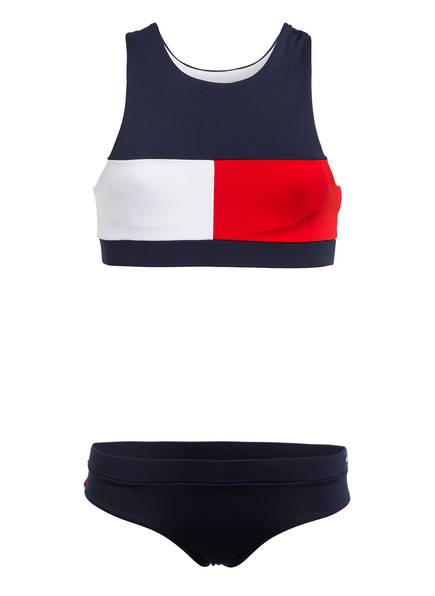 TOMMY HILFIGER Bustier-Bikini, Farbe: DUNKELBLAU/ WEISS/ ROT (Bild 1)