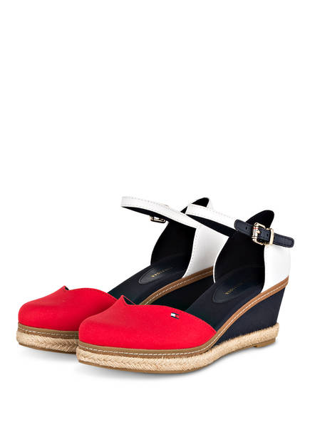 TOMMY HILFIGER Wedges, Farbe: ROT/ NAVY/ WEISS (Bild 1)