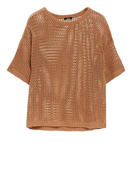 RIANI Kurzarm-Pullover, Farbe: COGNAC (Bild 1)
