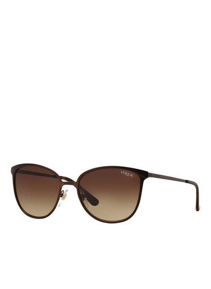 VOGUE Sonnenbrille VO4002S, Farbe: 934S13 - MATT DUNKELBRAUN/ BRAUN VERLAUF (Bild 1)