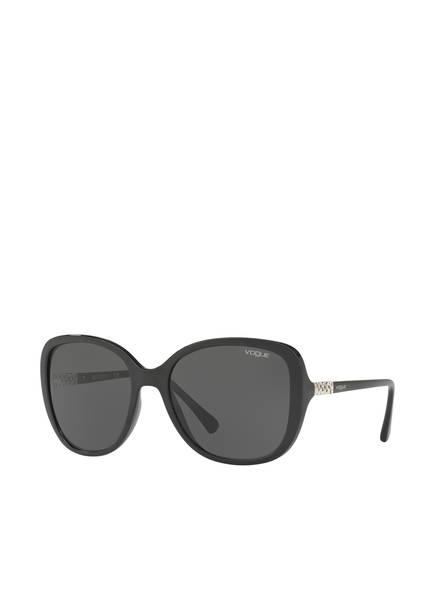 VOGUE Sonnenbrille VO5154SB mit Schmucksteinbesatz , Farbe: W44/87 - SCHWARZ/ GRAU (Bild 1)