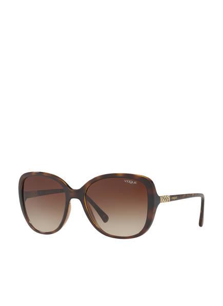 VOGUE Sonnenbrille VO5154SB mit Schmucksteinbesatz , Farbe: W65613 - HAVANA/ BRAUN VERLAUF (Bild 1)