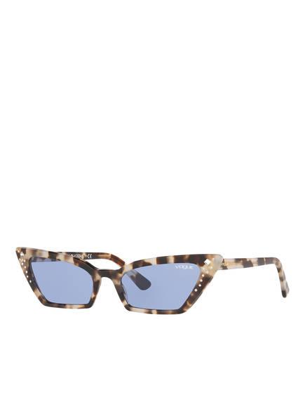 VOGUE Sonnenbrille 0VO5282SB mit Schmucksteinbesatz , Farbe: 272276 - HAVANA/ BLAU (Bild 1)