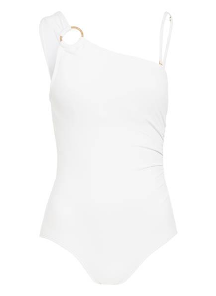 MICHAEL KORS One-Shoulder-Badeanzug, Farbe: WEISS (Bild 1)