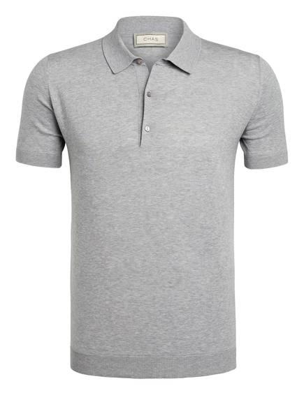 CHAS Strick-Poloshirt, Farbe: HELLGRAU MELIERT (Bild 1)