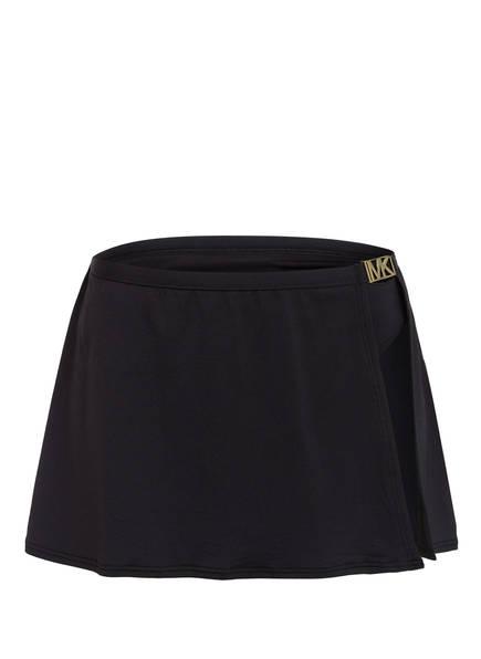 MICHAEL KORS Bikini-Hose mit Überrock, Farbe: SCHWARZ (Bild 1)
