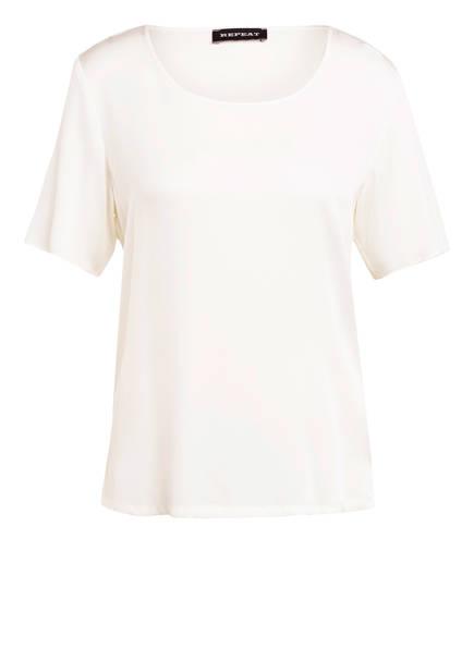 REPEAT Blusenshirt aus Seide, Farbe: ECRU (Bild 1)