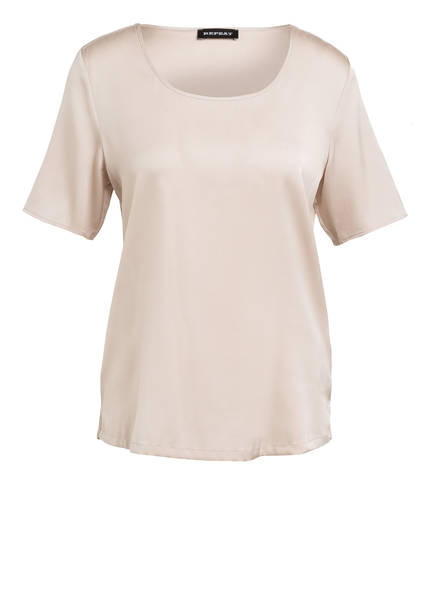 REPEAT Blusenshirt aus Seide, Farbe: BEIGE (Bild 1)