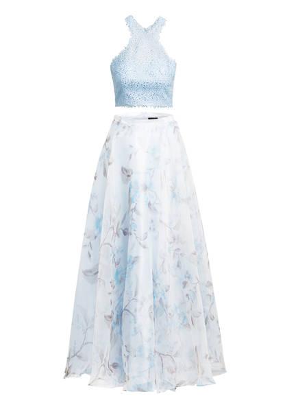 MASCARA Abendkleid mit Schmucksteinbesatz, Farbe: HELLBLAU/ CREME (Bild 1)