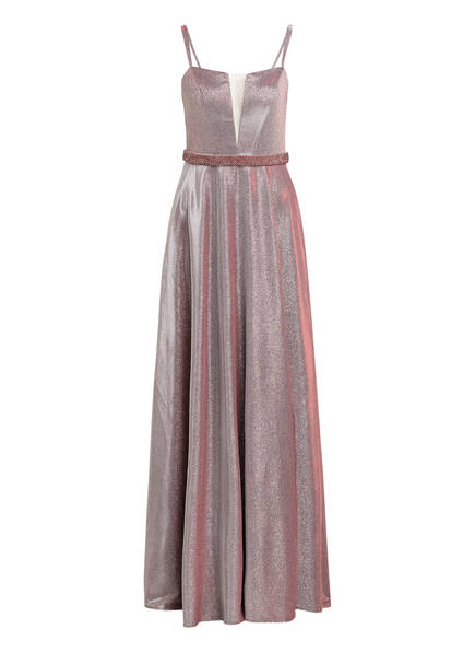 MASCARA Abendkleid mit Schmucksteinbesatz, Farbe: TAUPE (Bild 1)
